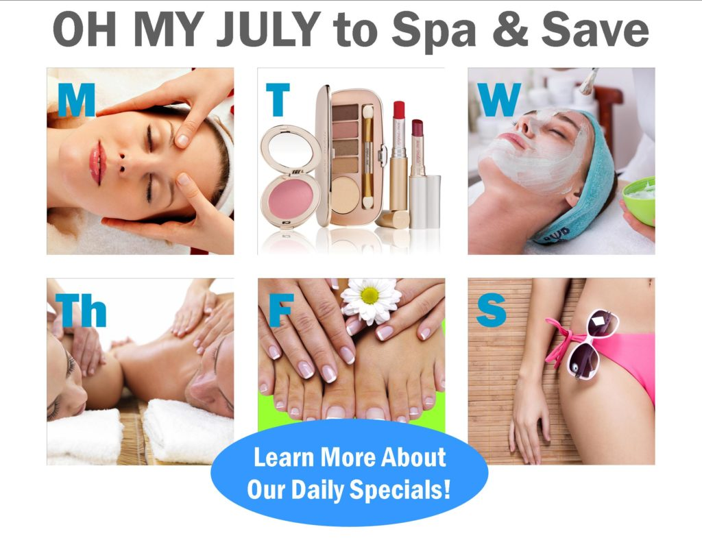 Spa and Save July Daily Specials